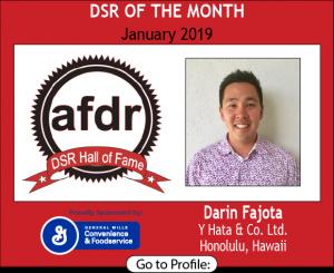 Darin Fajota, Y Hata & Co. Ltd., January 2019