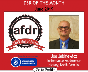 Joe Jabkiewicz, Performance Foodservice, June 2019