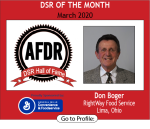 Don Boger, RightWay Food Service, March 2020