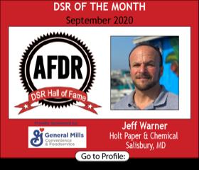 Jeff Warner, Holt Paper & Chemical, September 2020