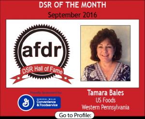September 2016, Tamara L. Bales, US Foods, DSR of the Month