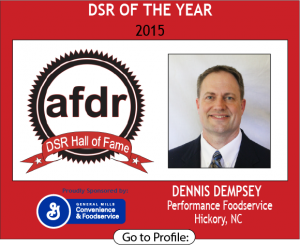 DSR of the Year, Dennis Dempsey, Performance Foodservice