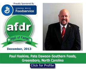 December 2013, Paul Haskins, Pate Dawson-Southern Foods, NC