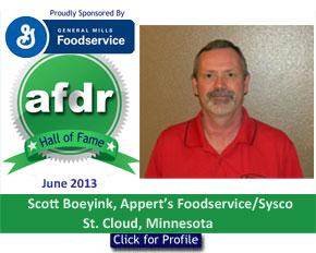 June 2013, Scott Boeyink, Appert's Foodservice/Sysco, St. Cloud, Minnesota