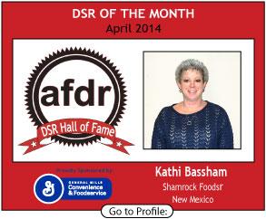 April 2014,  Kathi Bassham, Shamrock Foods, DSR of the Month