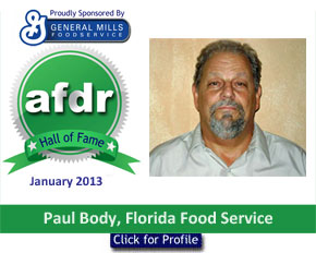 January 2013: DSR of the Month Paul Body, Florida Food Service