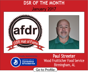 January 2017, Paul Streeter, Wood Fruitticher Food Service, DSR of the Month