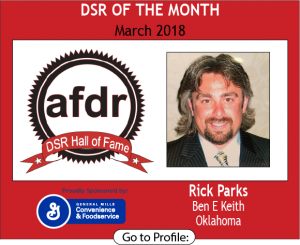 March 2018, Ben E Keith, Rick Parks, DSR of the Month