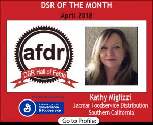 April 2018, Jacmar Foodservice Distribution, Kathy Miglizzi, DSR of the Month
