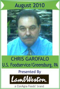 August 2010: Chris Garofalo, US Foods