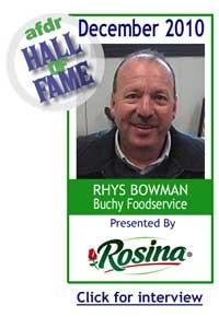 December 2010: Rhys Bowman, Buchy Food Service