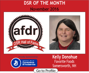 November 2016, Kelly Donohue, Favorite Foods, DSR of the Month