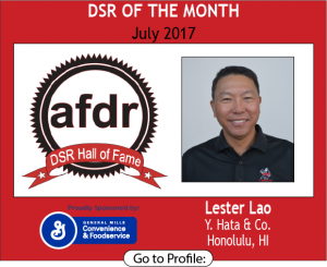 July 2017, Y. Hata & Co., Lester Loa, DSR of the Month