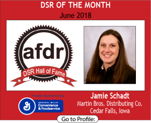 June 2018, Martin Bros. Distributing Co, Jamie Schadt, DSR of the Month