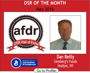 May 2016, Dan Reilly, Ginsberg's Foods, DSR of the Month