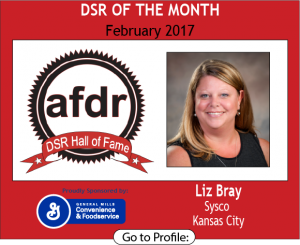 February 2017, Liz Bray, Sysco, DSR of the Month