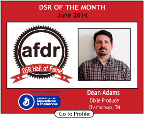 June 2014,  Andrew Bird, Dixie Produce, DSR of the Month
