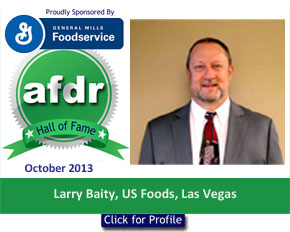 October 2013, DSR of the Month, Larry Baity, US Foods, Las Vegas