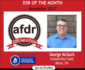 November 2017, Instantwhip Foods, George McGurk, DSR of the Month